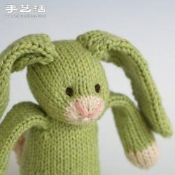 针织长耳兔子玩偶