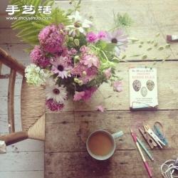 唯美插花作品欣赏 让人陶醉的时光味道