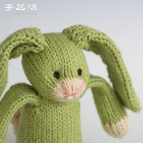 针织长耳兔子玩偶 -  www.shouyihuo.com