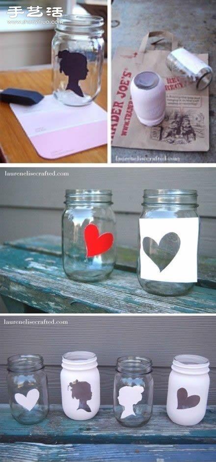 玻璃瓶DIY:如何在玻璃瓶上印漂亮圖案?