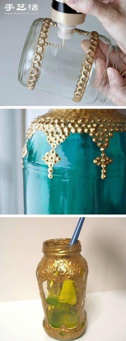 東亞特色玻璃燭台手工製作圖解教程