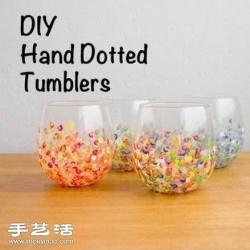 DIY色彩斑斓玻璃杯 作为中秋礼物不错哦!