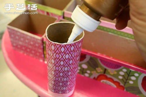 紙盒+保鮮膜/保鮮袋捲筒廢物利用製作收納盒