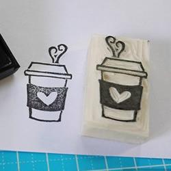 橡皮章教程:手工制作咖啡杯图案印章