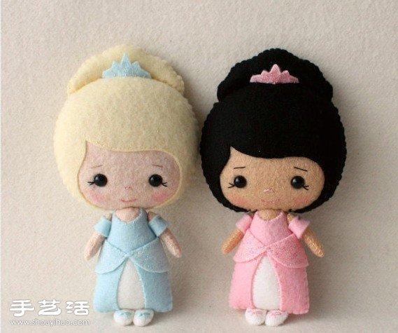 布艺娃娃diy_很可爱的手工不织布娃娃作品欣赏_手艺活网