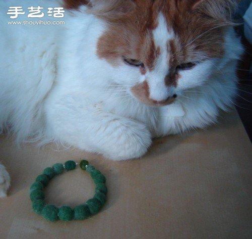 宠物绒毛手工制作漂亮手串手链图解教程 -  www.shouyihuo.com