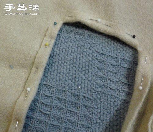 旧毛巾手工改造DIY制作拼布披巾/浴巾 -  www.shouyihuo.com