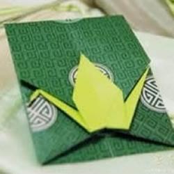 千纸鹤信封折纸方法 折纸千纸鹤信封图解