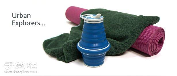 適合各種旅程的可摺疊水瓶Hydaway
