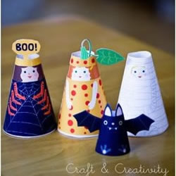 彩色卡纸剪纸制作可爱小人玩偶图解教程