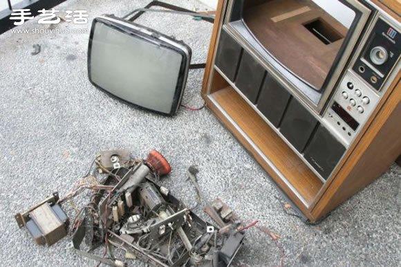 舊電視手工DIY改造懷舊魚缸水族箱圖解教程