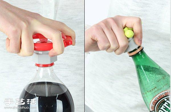 讓塑料瓶蓋更好開的省力開瓶器!