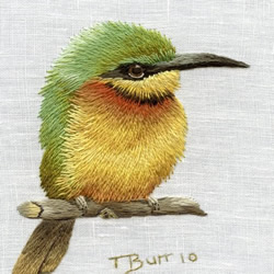 南非设计师Trish手工花鸟刺绣作品