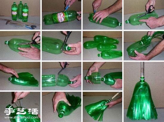 大瓶裝飲料瓶手工製作拖把圖解教程