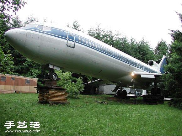 美國退休工程師改造波音飛機成自己的住宅