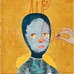 BECHA极尽夸张的肖像拼贴画DIY作品