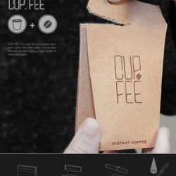 一袋用到底,环保咖啡杯包装设计