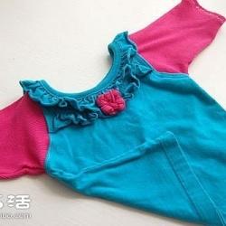 宝宝旧衣服改造教程 DIY简单的撞色宝宝衣