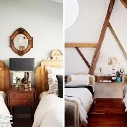 房间太空荡吗?卧室双张单人床布置设计