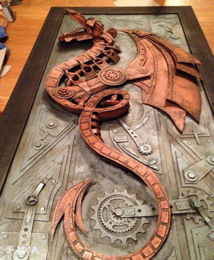充满金属质感的蒸汽朋克创意纸模作品 -  www.shouyihuo.com