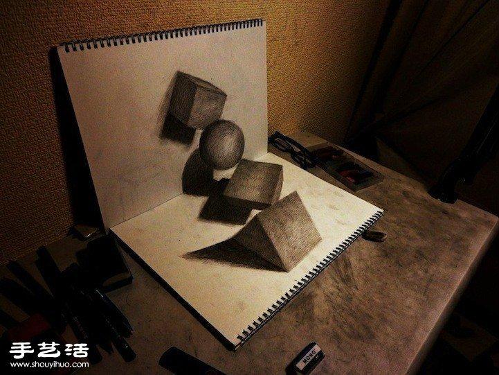 超逼真3D立體素描 躍然紙上令人嘆為觀止!