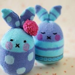 超萌袜子娃娃DIY 兔子玩偶手工制作图解教程
