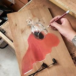 普通铅笔手绘真假难辨的超写实3D木板画!!