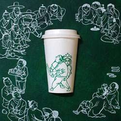 韩国画家 SOO MIN KIM 的创意纸杯画