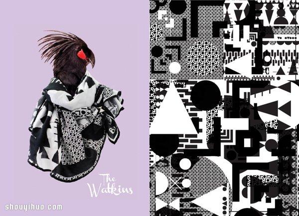 Blazon 品牌創意部落圖騰絲巾廣告設計