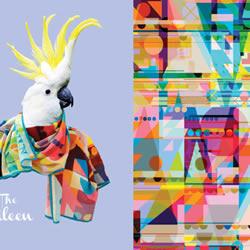 Blazon 品牌创意部落图腾丝巾广告设计