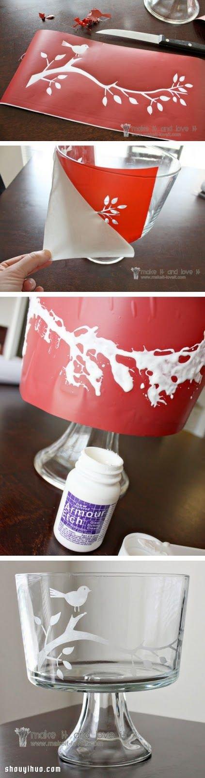 簡單小創意手工DIY漂亮圖案玻璃杯圖解教程