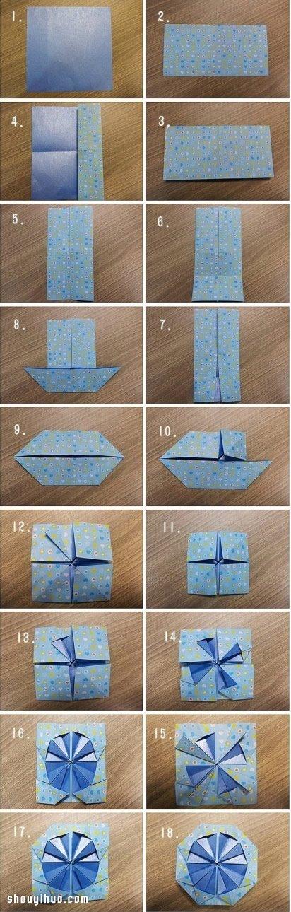 摺紙幸福摩天輪 會轉動幸福摩天輪的折法