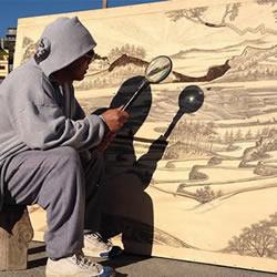 创意绘画方式:放大镜+阳光=壮丽烙画