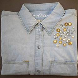 旧牛仔布衬衫改造 DIY独一无二做旧风衬衫