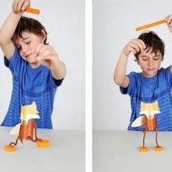 好玩的狐狸提线木偶玩具手工制作图解教