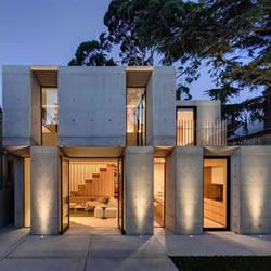 混凝土与木质元素对比 原始风别墅装修设