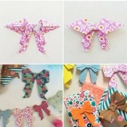 折纸蝴蝶结教程 蝴蝶领结的折法图解