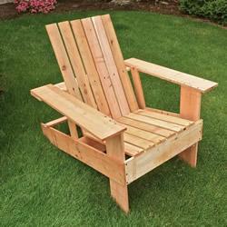木制扶手靠背椅DIY 户外休闲躺椅手工制作