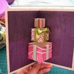 圣诞节日立体贺卡DIY手工制作图解教程