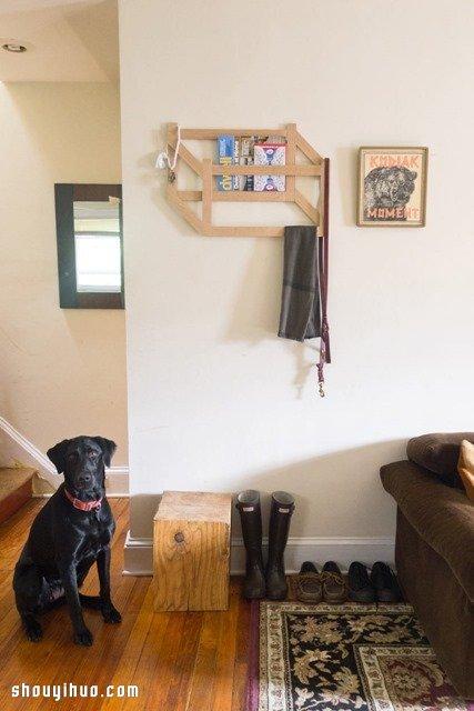 如何自制墙上置物架_时尚3D置物架木工制作 可用作挂衣架和书架_手艺活网