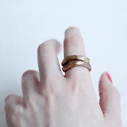 仿佛金属锻造的复古软陶戒指手工DIY制作