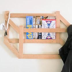时尚3D置物架木工制作 可用作挂衣架和书