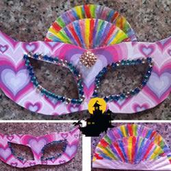 简单儿童装饰面具DIY手工制作图解教程