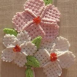 毛线手工编织宝宝毛衣装饰小花图解教程