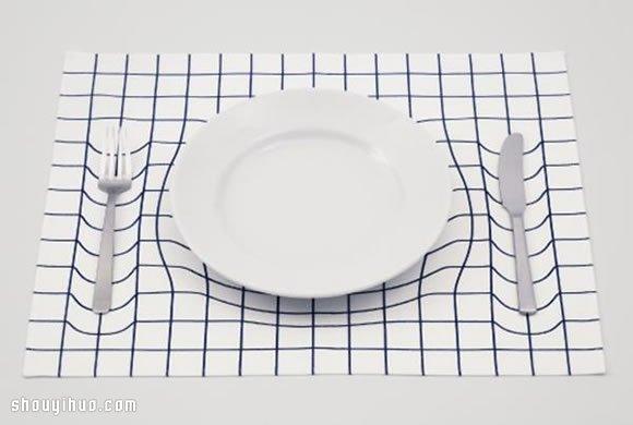 神奇3D錯覺餐墊設計 讓你的餐桌凹下去!