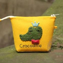 带拉链卡通鳄鱼图案零钱包/手拿包手工制作
