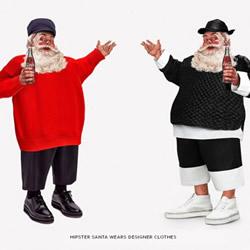 假如圣诞老人穿上现代流行服饰会是什么样?