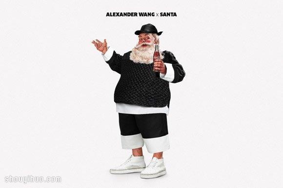 假如聖誕老人穿上現代流行服飾會是什麼樣?