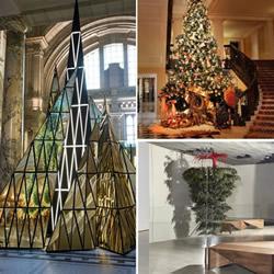 圣诞树大变身:时尚设计师打造的创意圣