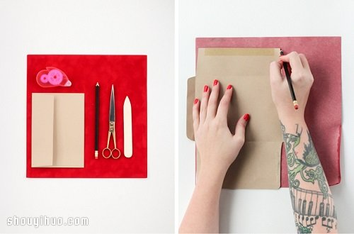 簡單聖誕節/春節用紅信封DIY手工製作教程
